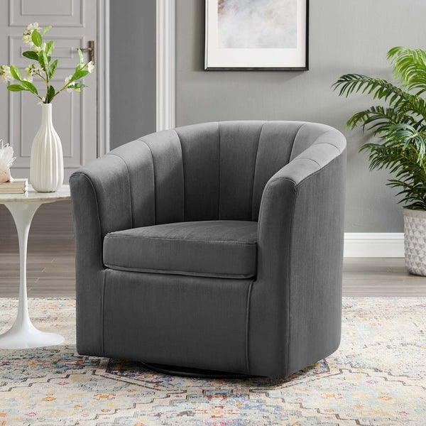 Prospect Performance Velvet Swivel Armchair. Opens flyout.