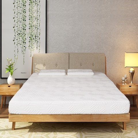"8"" Cool Medium 3 Layers Softness Mattress with 2 Pillows Set"
