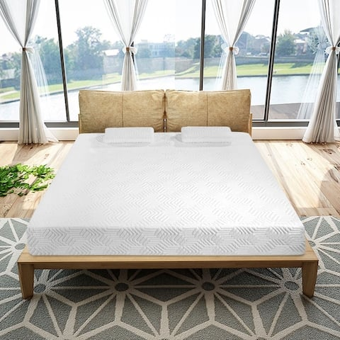 "10"" Traditional Firm 2 Layers Softness Mattress with 2 Pillows Set"