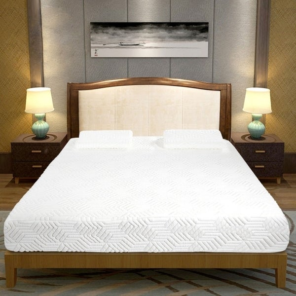 10 inch 4 Layer COOL Medium Firm Memory Cotton Mattress with 2 Pillows. Opens flyout.