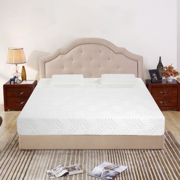 12 inch COOL Medium Firm Memory Cotton Mattress with 2 Pillows Queen. Opens flyout.