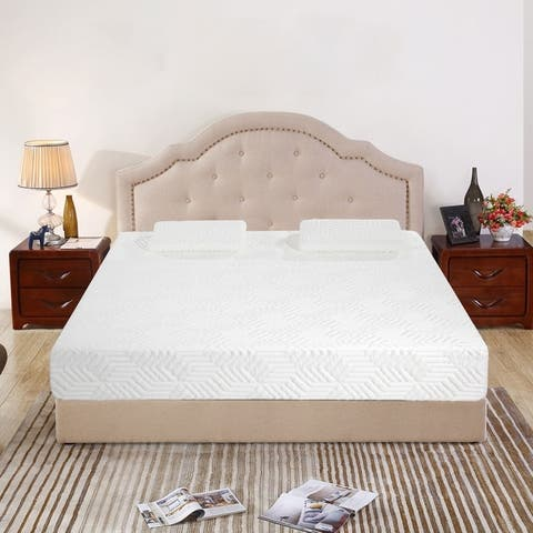 12 inch COOL Medium Firm Memory Cotton Mattress with 2 Pillows Queen
