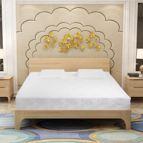 "14"" COOL Medium Firm Memory Cotton Mattress with 2 Pillows Queen"