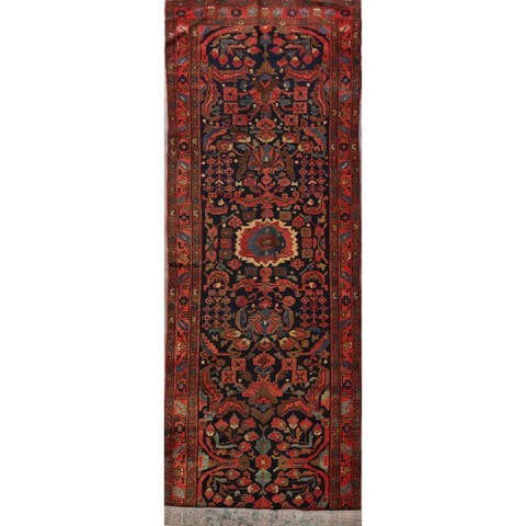 "Antique Vegetable Dye Malayer Persian Runner Rug Hand-Knotted - 3'7"" x 15'8"""