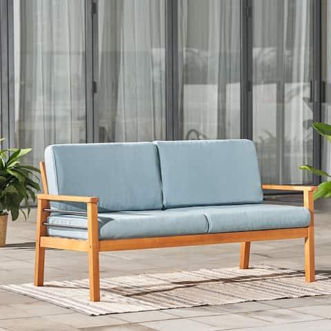Gloucester Contemporary Patio Wood 2-Seater Sofa
