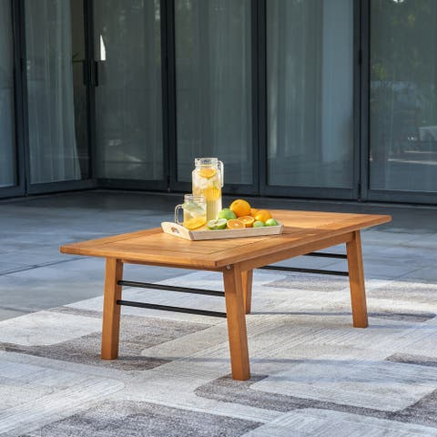 Gloucester Contemporary Patio Wood Sofa Table