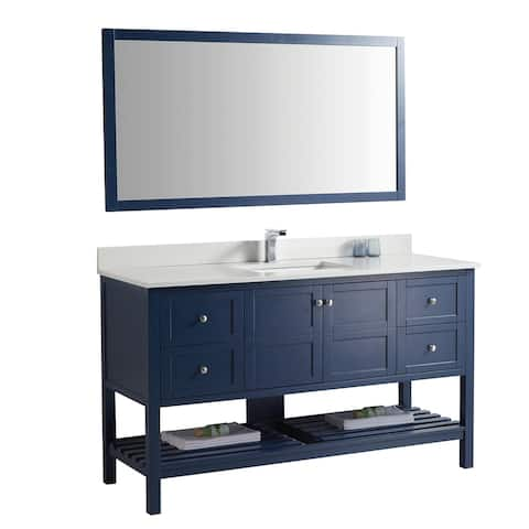 Two Door Four Drawer Soft Close bathroom cabinet without mirror