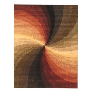 """Hand-tufted Wool Contemporary Abstract Swirl Rug (8'9 x 11'9) - 8'9"""" x 11'9"""""""