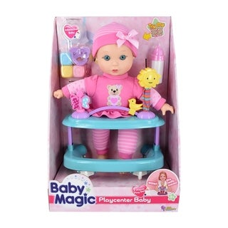 Baby Magic Playcenter Baby 7 Piece Set w/ Toy Interactive Baby Doll