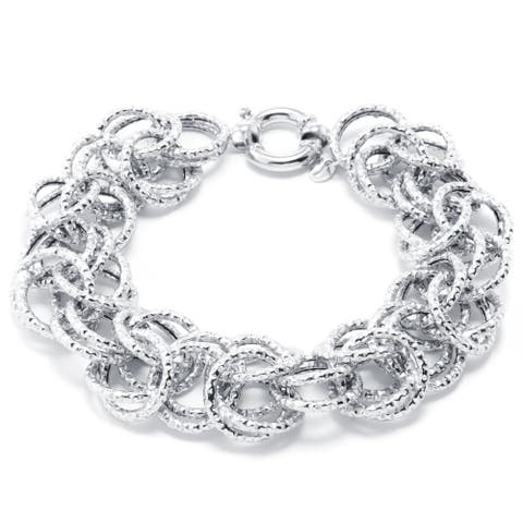 Sterling Silver Interlock Links Bracelet