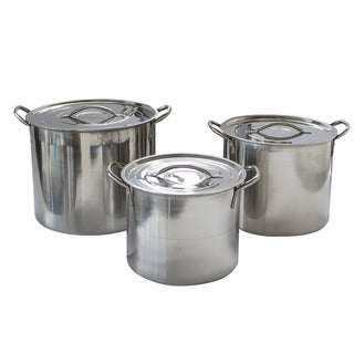 Link to AmeriHome 6 Piece Stainless Steel Stock Pot Set Similar Items in Cookware