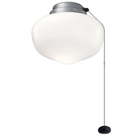 Kichler Lighting 8-inch LED Schoolhouse Light Kit Weathered Steel Coat