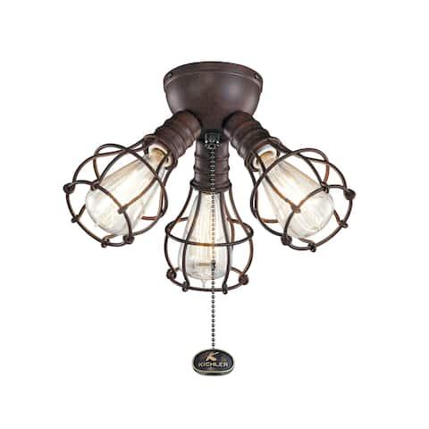 Kichler Lighting LED Industrial 3-Light Fixture Tannery Bronze