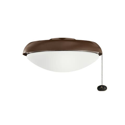 Kichler Lighting LED Slim Profile Fan Light Kit Coffee Mocha