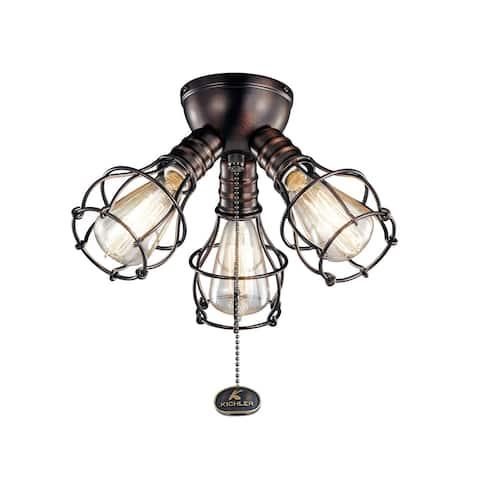 Kichler Lighting LED Industrial 3-Light Fixture Oil Brushed Bronze