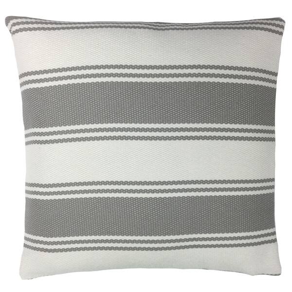 Gray And White Striped Outdoor Throw Pillow Overstock 30956503