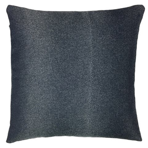Metallic Black Outdoor Throw Pillow