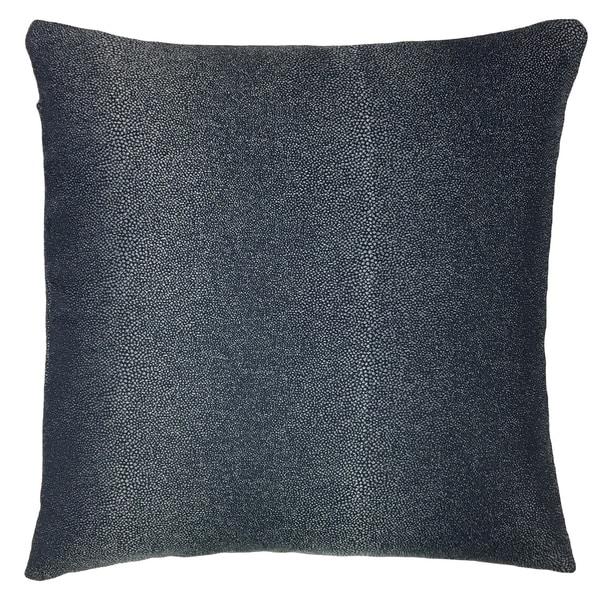Metallic Black Outdoor Throw Pillow. Opens flyout.