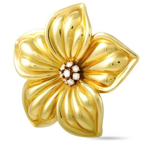 Van Cleef & Arpels Yellow Gold and 0.85 ct Diamond Flower Brooch
