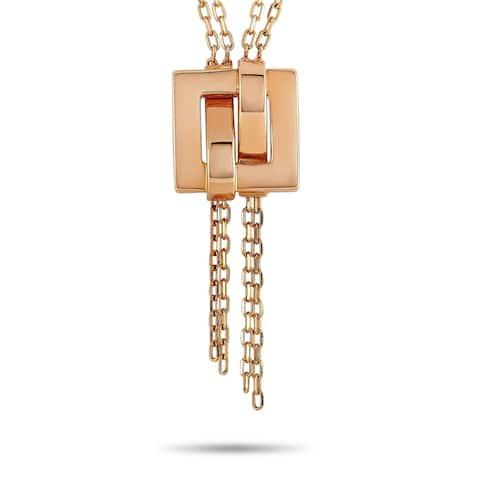 Boucheron Rose Gold Pendant Necklace Length N/A