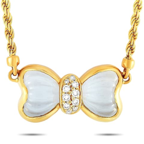 Boucheron Yellow Gold Diamond and Crystal Necklace Length N/A