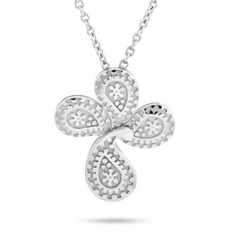 Carrera y Carrera White Gold Cross Pendant Necklace Length N/A