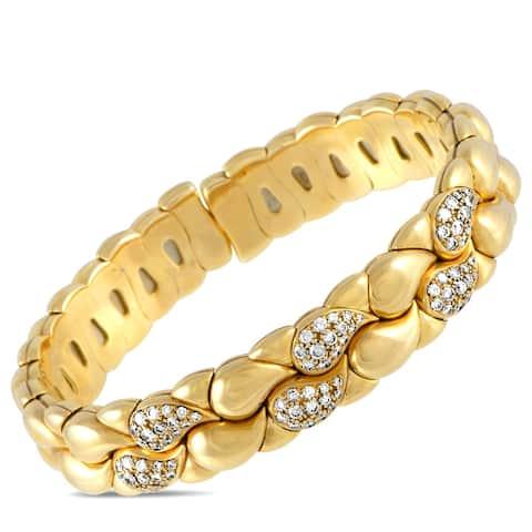 Chopard Casmir Yellow Gold Diamond Pave Open Bracelet