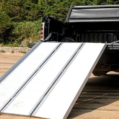 ALEKO Tri-Fold Aluminum Plated ATV Loading Ramp 1200 Lb Capacity