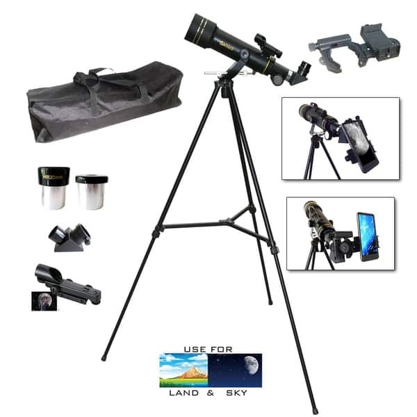 Galileo 360 x 60mm Day//Night Telescope Kit with Backpack and Smartphone Adapter
