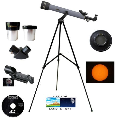 Galileo 600mm X 50mm Refractor Telescope Kit with Solar Filter Cap