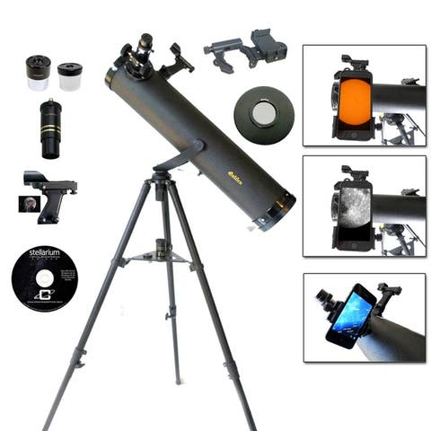Galileo 800mm x 95mm Telescope w/ Smartphone Adapter and Solar Filter