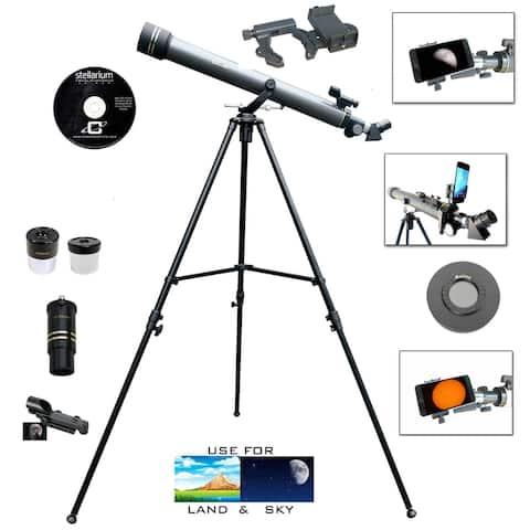 Galileo 700mm x 60mm Telescope Kit w/Smartphone Adapter & Solar Filter
