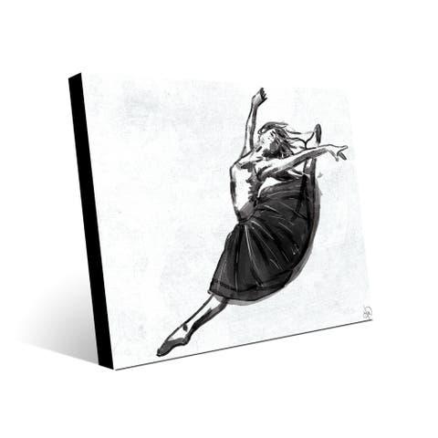 Kathy Ireland Reel Tape White on Black Abstract on Metal Wall Art Print