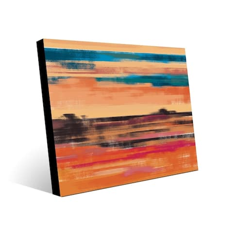 Kathy Ireland Vermillion Mirage Southwestern Abstract on Metal Wall Art Print