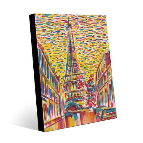 Kathy Ireland Paris Confetti Surreal Abstract on Metal Wall Art Print