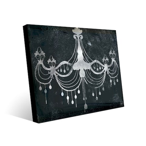 Kathy Ireland Urban Chandelier on Charcoal Gray on Metal Wall Art Print