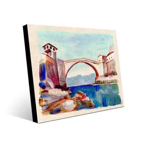 Kathy Ireland Mostar Bridge in Bosnia on Metal Wall Art Print