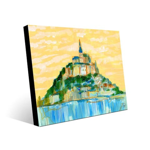 Kathy Ireland Magestic Mont Saint Michel, France on Metal Wall Art Print