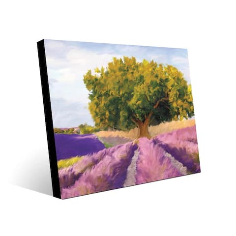 Kathy Ireland Lush Lavendar Field Landscape on Metal Wall Art Print
