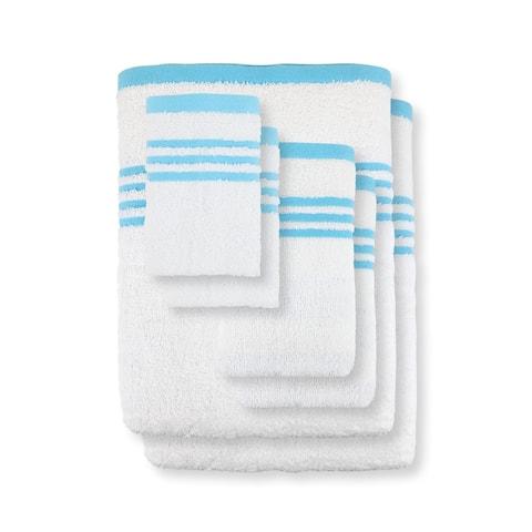 Metro 100% Cotton 6-Pc Towel Set, Striped Dobby