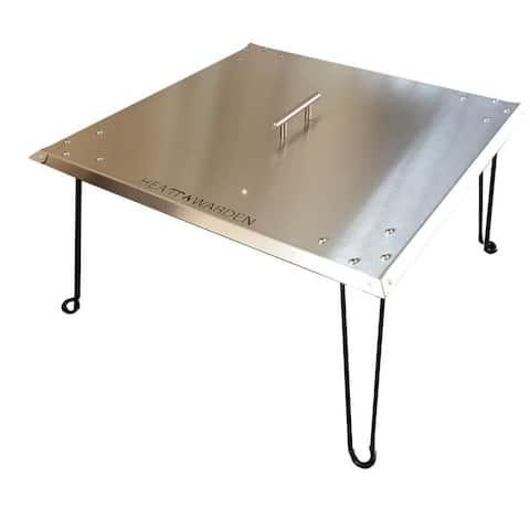 Heat Warden Fire Pit Heat Deflector in Stainless Steel