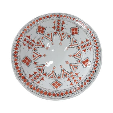 Handmade Moroccan Plate with Vivid Colors