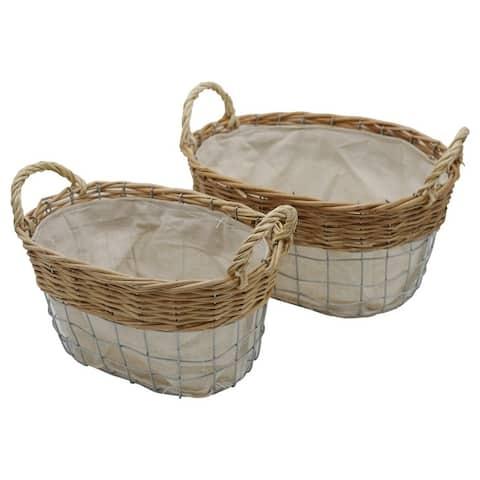 "Woven Decorative Nesting Storage Baskets - 8'6"" x 13'"