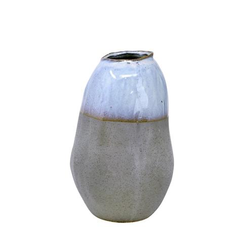 "Ceramic 10"" Organic Vase , Gray"