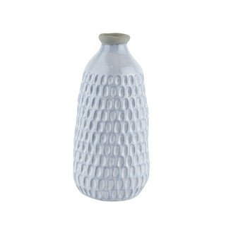 """Link to Ceramic Organic Dimpled Vase, 12.25"""" Gray Similar Items in Accent Pieces"""