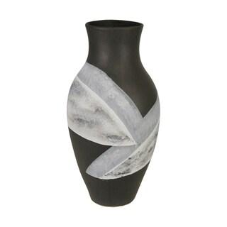 "Link to Ceramic 18"" Painted Vase, Matte Black Similar Items in Decorative Accessories"