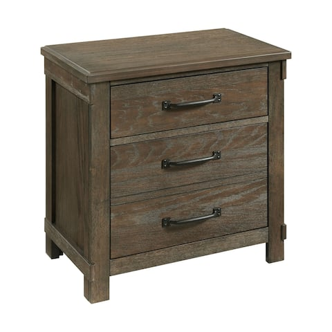 Picket House Furnishings Jack 2-Drawer Nightstand with USB Ports