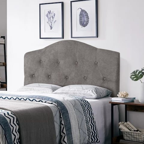 Adeco Camelback Tufted Upholstered Headboard, Twin Size,