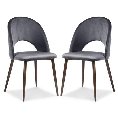 EdgeMod Curva Velvet Dining Chair (Set of 2)