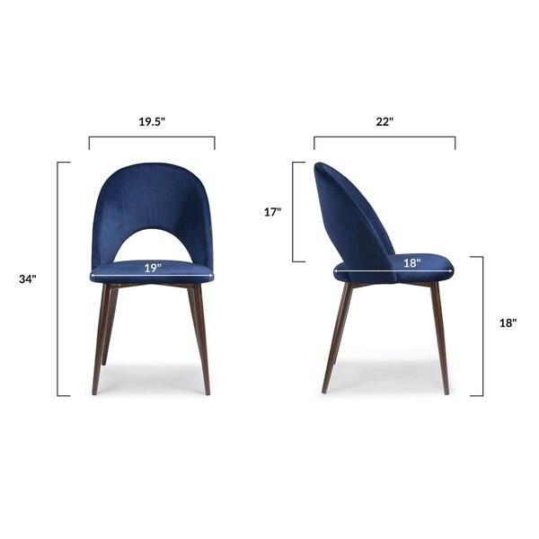 EdgeMod Curva Velvet Dining Chair (Set of 2)